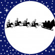 Santa claus driving in a sledge — Stock Vector #7284202