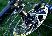 Bike Wheel Closeup — Stockfoto