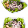 Стоковое фото: Set with different salads