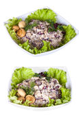 Set with different salads — Stockfoto