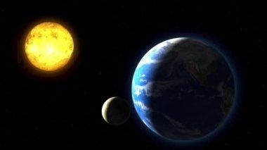 Flight earth in space — Stock Video