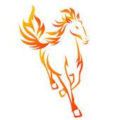 Koń płomień — Zdjęcie stockowe