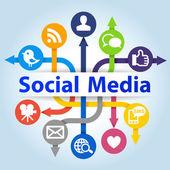 Social Media Concept — Fotografia Stock