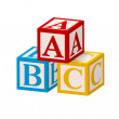 Alphabet Block ABC — Stock Photo
