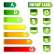 Energy Label and Environment friendly Label — Stock Photo