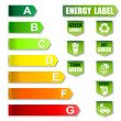 Stock Photo: Energy Label and Environment friendly Label