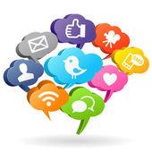 Social media Speech Bubbles — Stock Photo