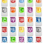 Programming language icons — Stock Photo #48119045