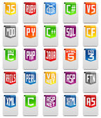 Programming language icons — Stock Photo