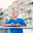 Portrait of a boy in the street — Stock Photo