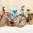 Image of an old bicycle in Morocco — Stock Photo