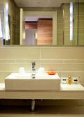 Image of a bathroom in the hotel — Stock Photo