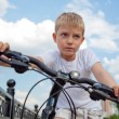 Portrait of a little boy on bycycle — Stock Photo #46770045