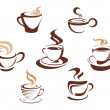 Coffee and tea cups — Stock Vector #10197220