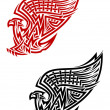 Stock Vector: Griffin symbol in celtic style