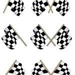 Checkered flags set — Stock Vector