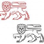 Heraldic lion king — Stock Vector #12576418