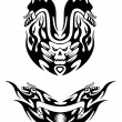 Stock Vector: Two tribal bike tattoos