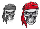 Pirate skull — Vector de stock