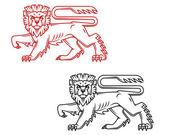 Heraldic lion king — Stock Vector