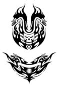 Two tribal bike tattoos — Stock Vector