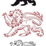 Medieval heraldic lion — Stock Vector #12710265