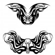 Royalty-Free Stock Vectorielle: Motorcycles mascots with tribal flames