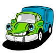 Royalty-Free Stock Vector Image: Cartoon delivery truck