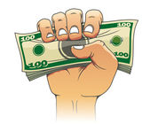 Money in hand — Stock Vector