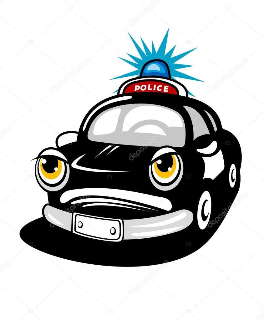 Poice car in cartoon style for law concept  Stock Vector #12856509