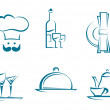 Restaurant icons and symbols — Stock Vector #13383505