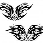 Black bikes tattoos — Stock Vector