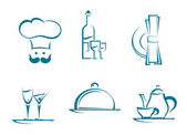 Restaurant icons and symbols — Stock Vector