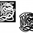 Abstract wild animal in celtic style — Imagen vectorial