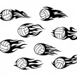 Stock Vector: Volleyball sports tattoos