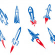 Rockets and missiles — Stock Vector
