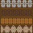 Set of celtic ornaments and patterns - Stock Vector