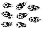 Football and soccer tattoos — Stock Vector