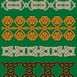 Celtic embellishments and ornaments — Stock Vector