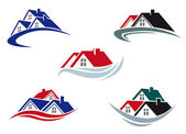 Dachy dom — Wektor stockowy