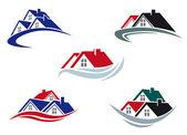 Telhados de casa — Vetorial Stock