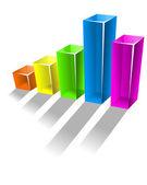 Glossy growing chart — Stok Vektör