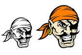 Caribbean danger pirate — Stock Vector