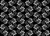 Padrão sem emenda floral retrô — Vetorial Stock