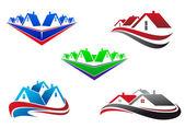 Symboles de l'immobilier — Vecteur