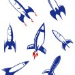 Space rockets and military missiles - Stock Vector