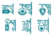Vintage signs of pubs, taverns and restaurants — Stock Vector