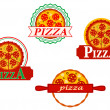 Stock Vector: Italipizzbanners and emblems
