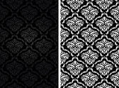 Vintage damask seamless backgrounds — Vector de stock