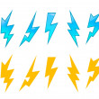 Set of lightning icons — Stock Vector